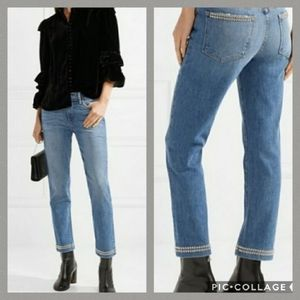 FRAME Denim Le High Straight Jean with Studs